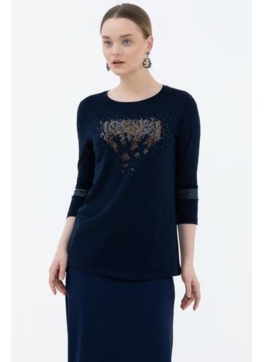Sementa Truvakar Kol Taş Detaylı Bluz - Lacivert Lacivert